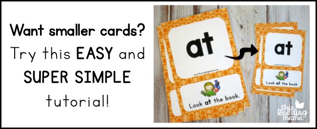 Want smaller cards? Follow our simple tutorial