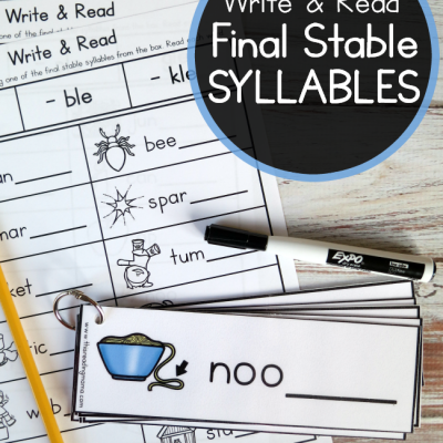 Final Stable Syllables – Write & Read Pack