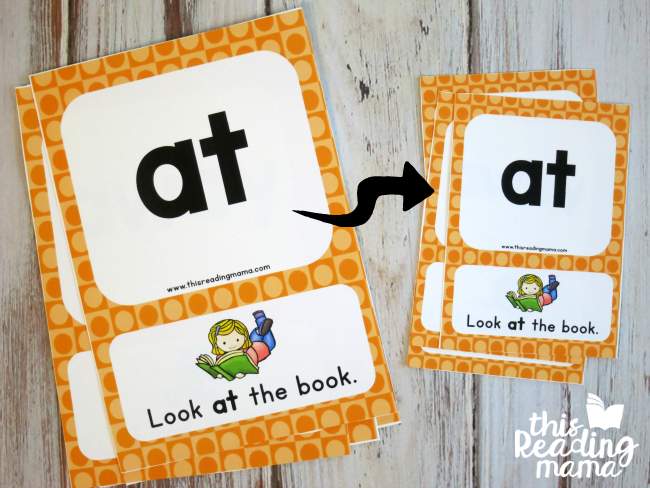 tutorial for smaller sight word sentence cards