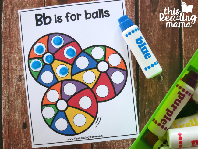 using dot markers to cover the free alphabet dot pages