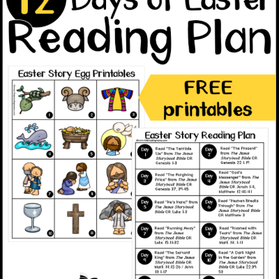 12 Days of Easter Reading Plan for Kids