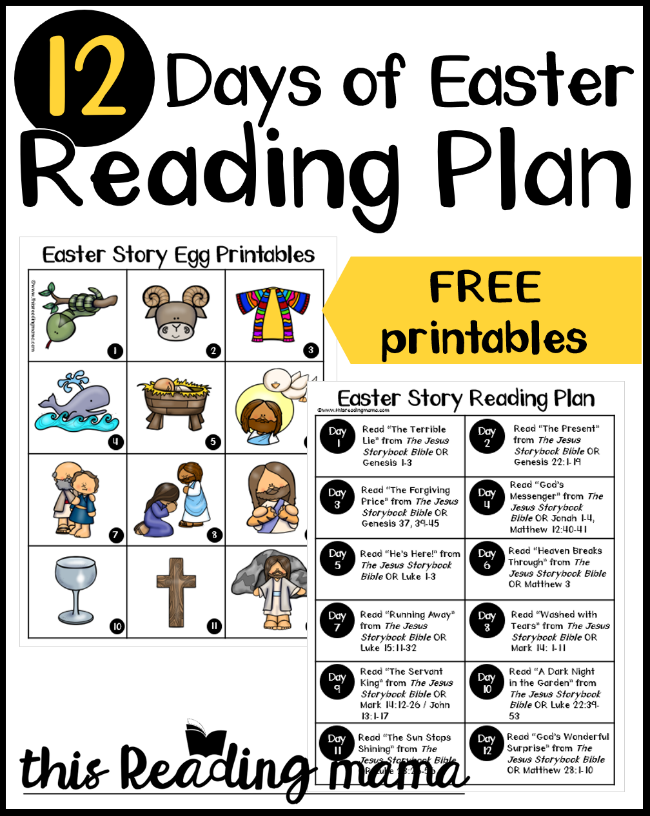 12 Days of Easter Reading Plan for Kids - free printables included - This Reading Mama