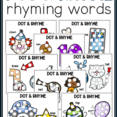 20 Rhyming Dot Pages: Dot & Rhyme