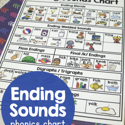 Ending Sounds Phonics Chart