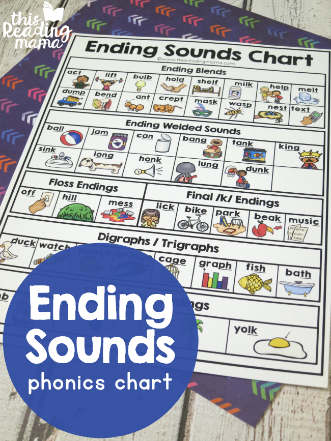 Ending Sounds Phonics Chart - This Reading Mama
