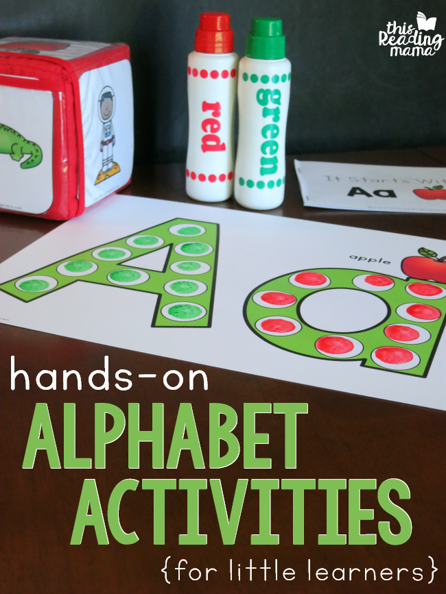 Hands-On Alphabet Activities For Little Learners - This Reading Mama