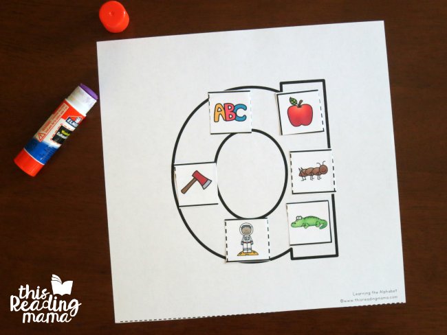 cut and paste letter sounds - for uppercase and lowercase letters