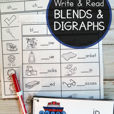 Blends and Digraphs Pages – Write & Read