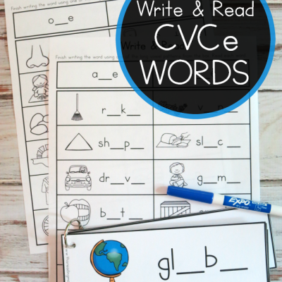 CVCe Words: Write & Read Pack
