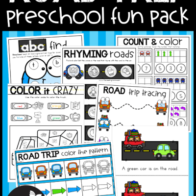 Road Trip Preschool Pack – NO PREP!