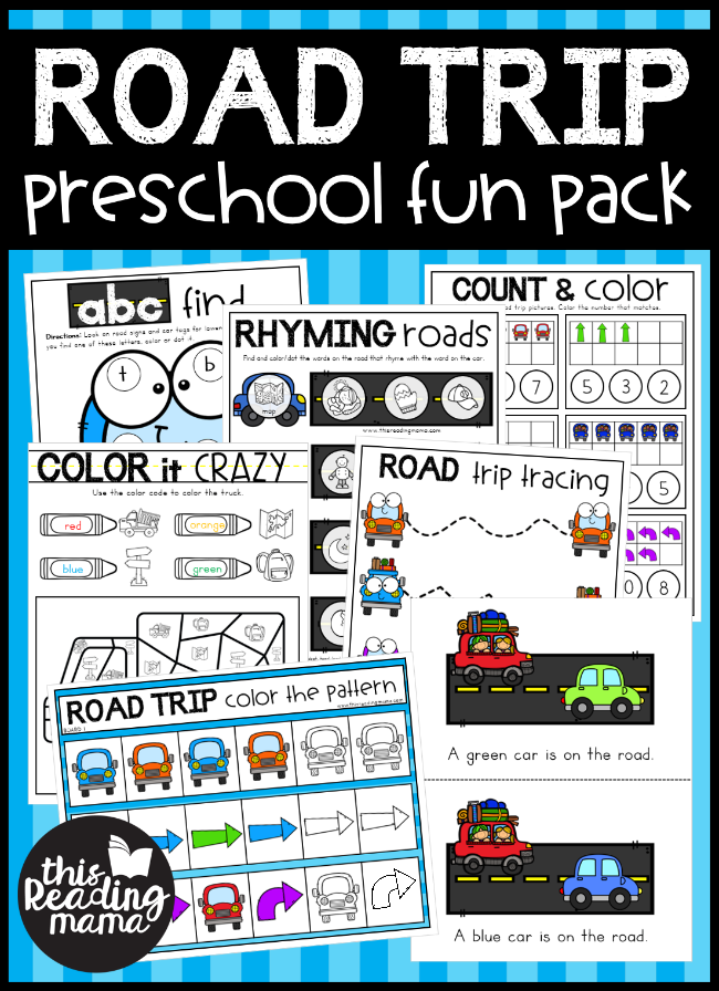 NO PREP Road Trip Preschool Pack - This Reading Mama