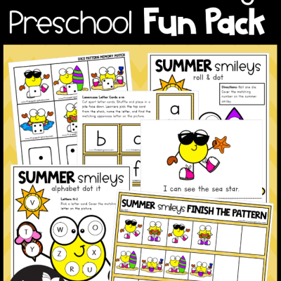 Preschool Summer Pack – Summer Smileys