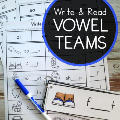 Write & Read Pack for Vowel Teams
