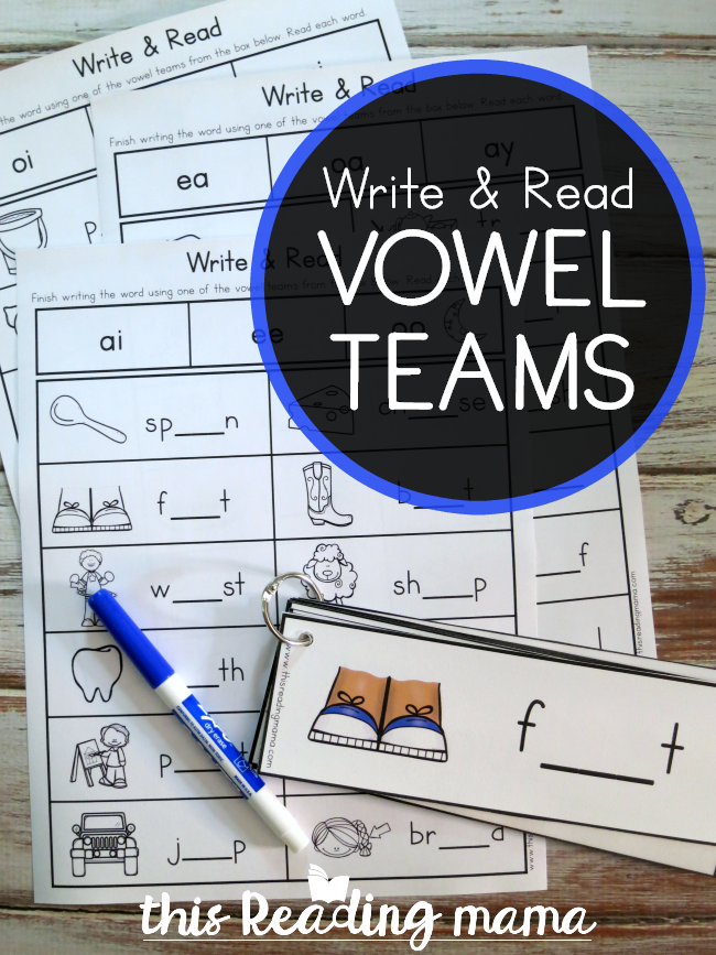 Vowel Teams Write and Read Pack - This Reading Mama