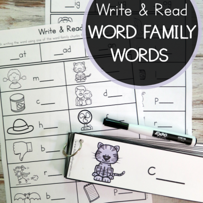 Word Family Words: Write & Read