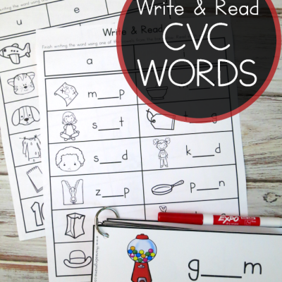 Write & Read Pack for CVC Words