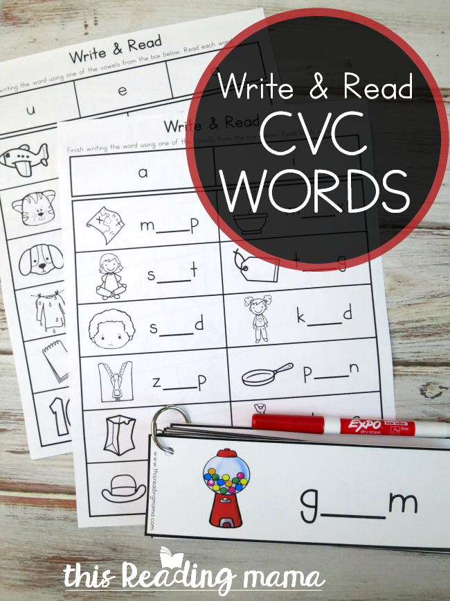 Write and Read Pack for CVC Words - This Reading Mama