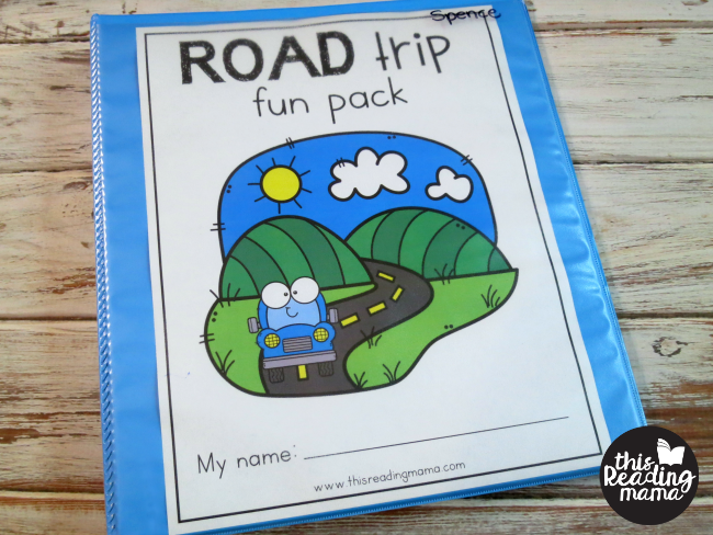 road trip preschool pack binder cover