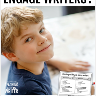 How do you Engage K-2 Writers?