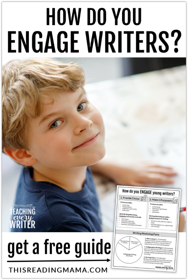 How Do You Engage K-2 Writers? - This Reading Mama