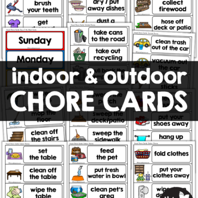 Indoor & Outdoor Visual Chore Cards for Kids
