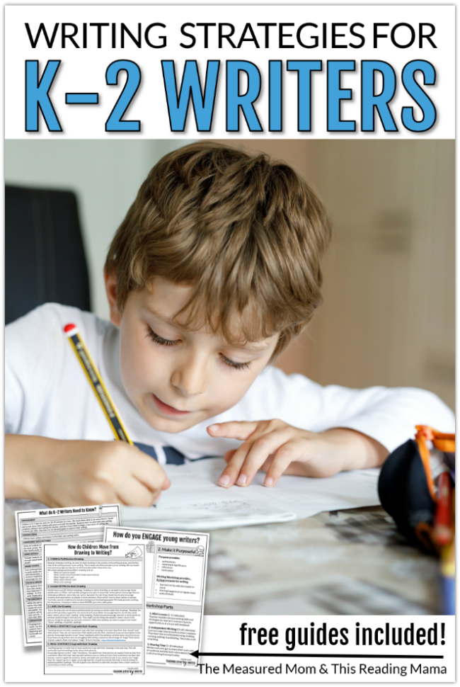 Writing Strategies for K-2 Writers Video Series - a Sneak Peek at Teaching Every Writer - This Reading Mama