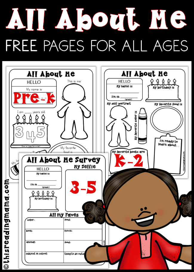 graphic relating to All About Me Book Preschool Printable known as All Over Me Internet pages for Preschool - 5th Quality - This Looking at Mama