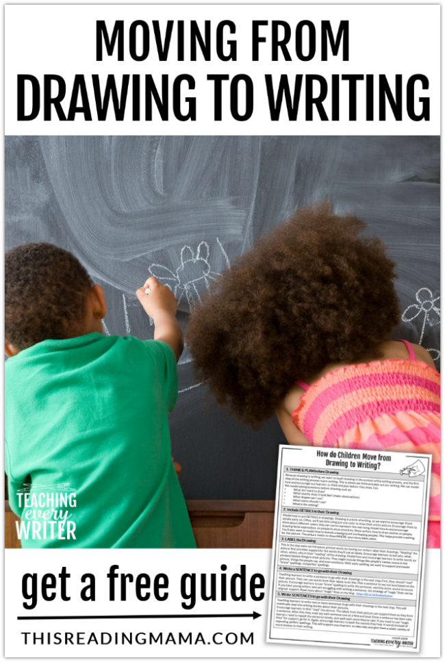 Helping Kids Move from Drawing to Writing - This Reading Mama