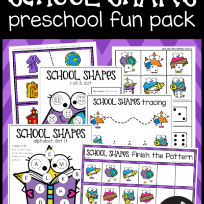 Back to School Preschool Pack