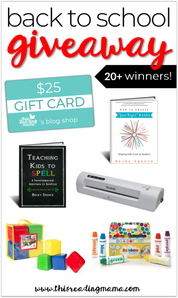 2019 Back to School Giveaway - This Reading Mama