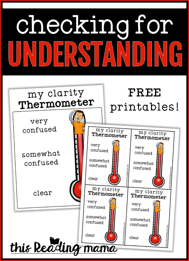 Checking for Understanding - FREE Printable Included - This Reading Mama