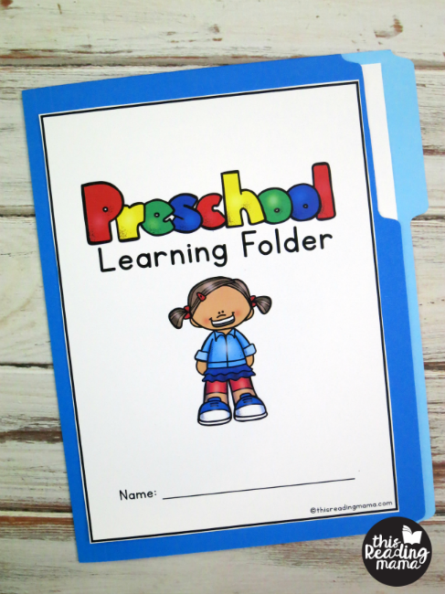 Preschool Learning Folder - front