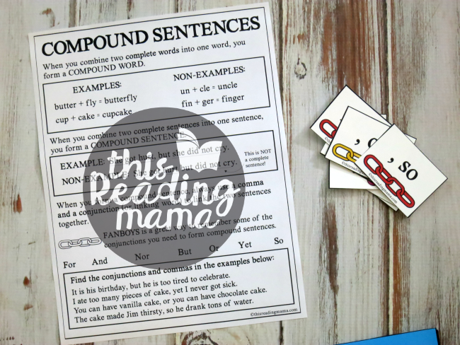 Compound Sentences Information Page