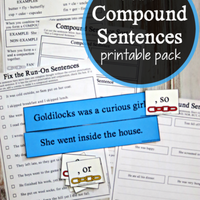 Compound Sentences Printable Activities