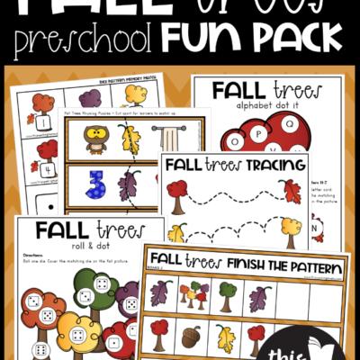 FREE Fall Preschool Pack