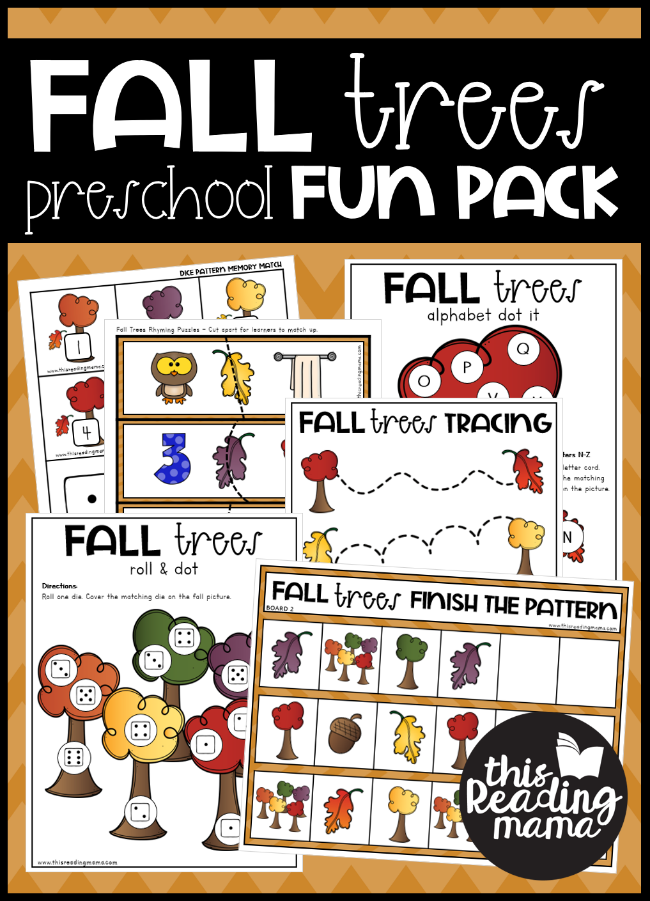 Fall Trees Preschool Pack - This Reading Mama