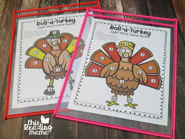 Editable Turkey Word Game - 2 Game Boards