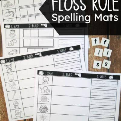 Floss Rule Spelling Mats