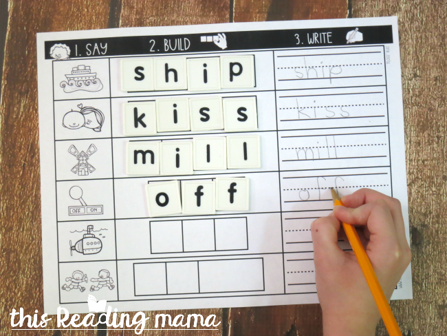 Floss Rule Spelling Mats - Version 1-Level 1