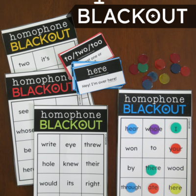 Homophone BLACKOUT Games