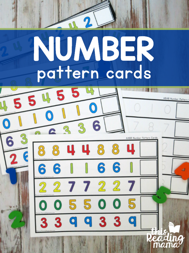 Number Pattern Cards - This Reading Mama