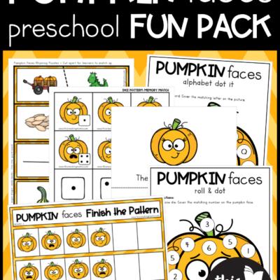 FREE Pumpkin Preschool Pack