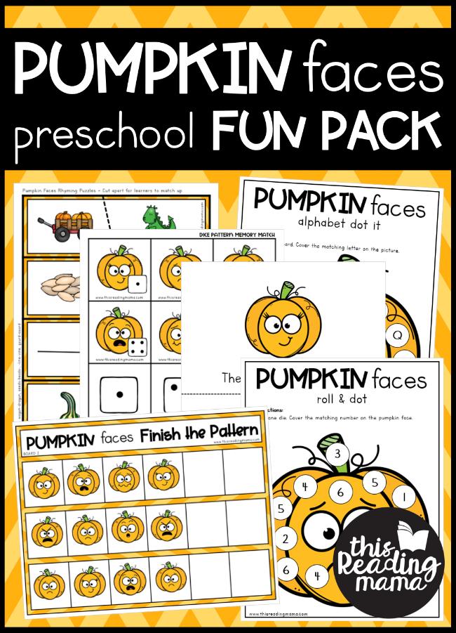 Pumpkin Preschool Pack - This Reading Mama