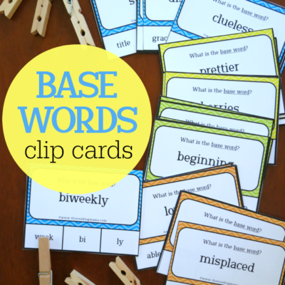 Base Words Clip Cards