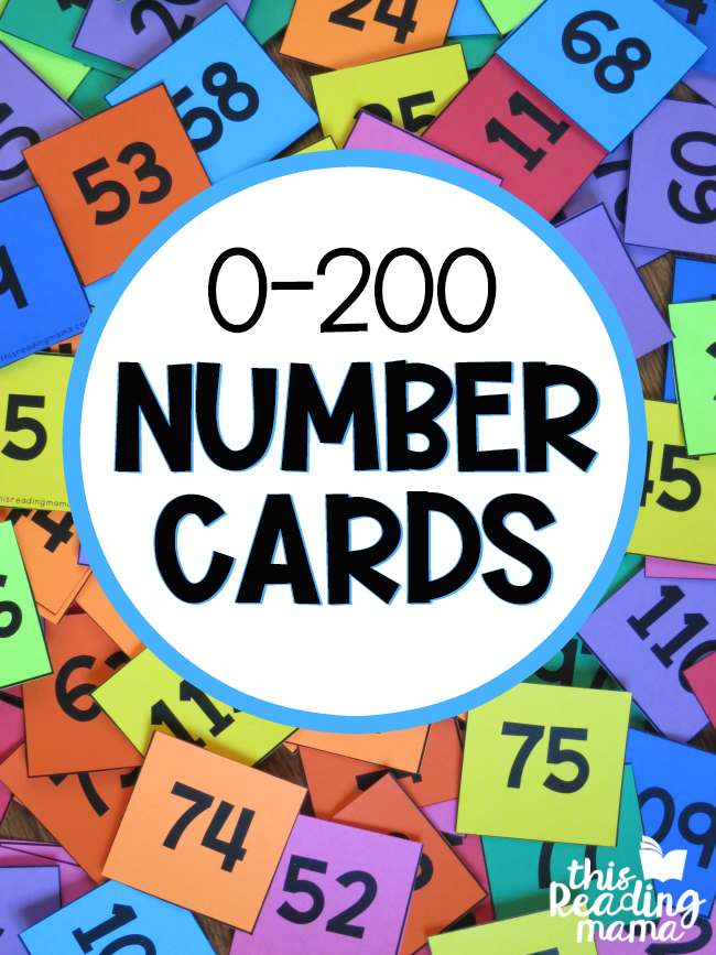 0-200 Pocket Chart Number Cards - This Reading Mama
