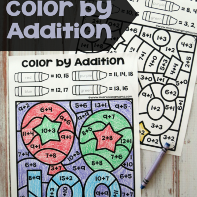 Color by Addition – 100th Day of School