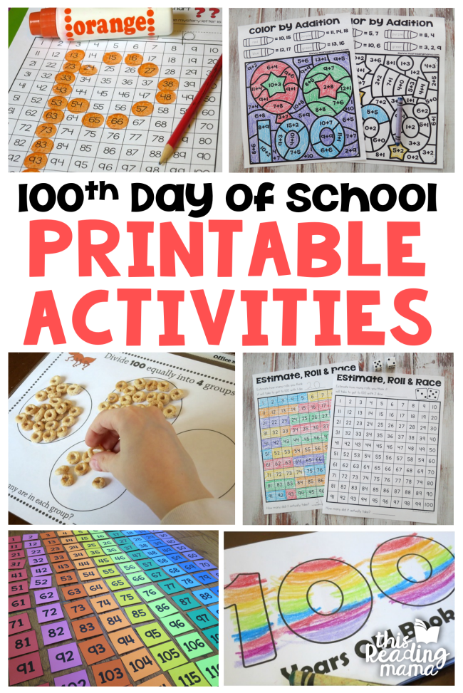 100th Day Printable Activities - This Reading Mama