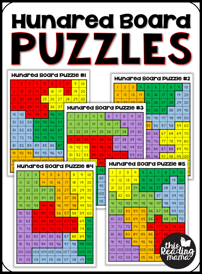 5 FREE Hundred Board Puzzles - This Reading Mama