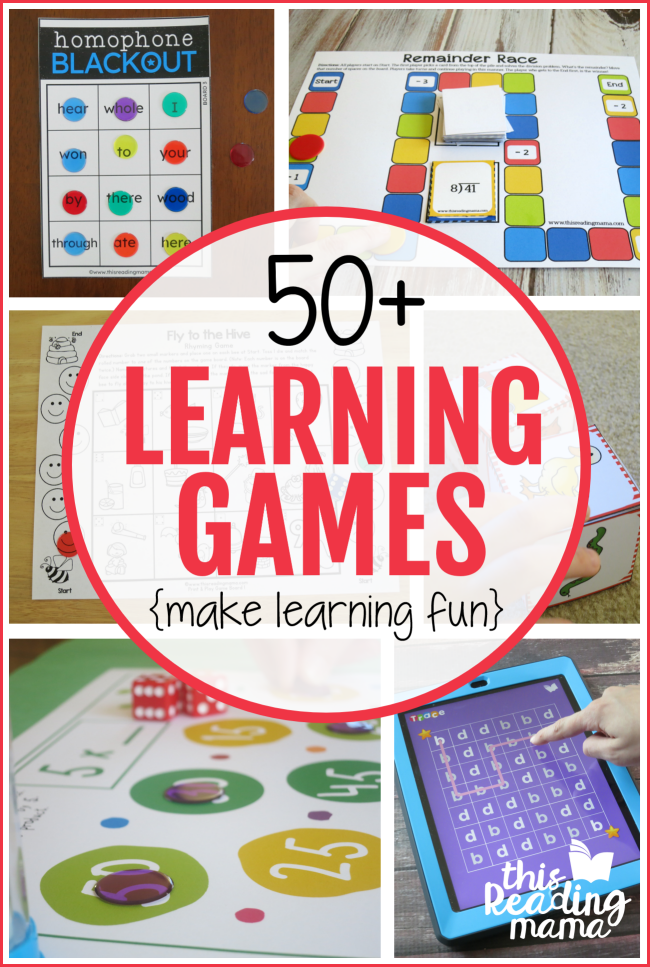 50+ Learning Games to Make Learning Fun - This Reading Mama