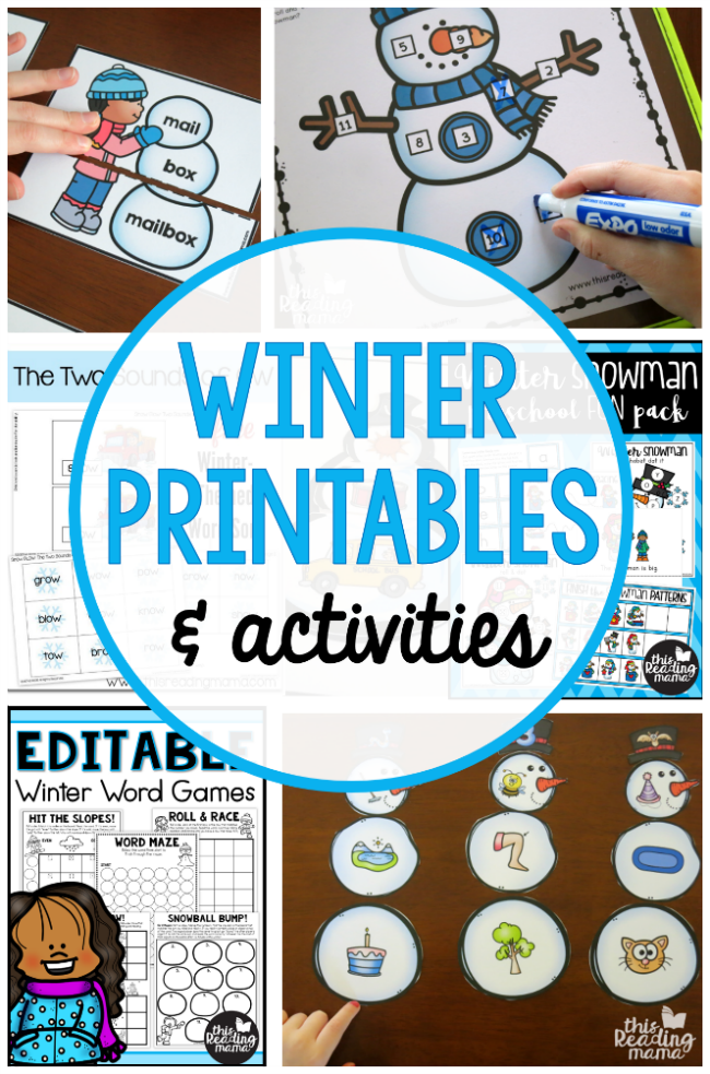 FREE Winter Printables and Activities - This Reading Mama